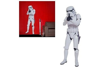 Toise Aby Style Stickers muraux Star Wars : Storm Trooper