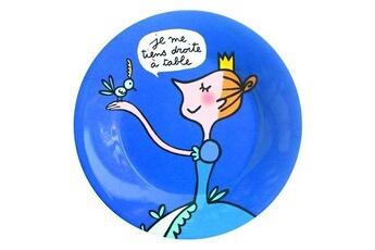 Vaisselle bébé Petit Jour Paris Assiette Princesses - Princesses : Je me tiens droite