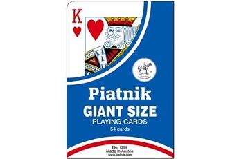 Jeux en famille Piatnik Jeu de 54 cartes : cartes géantes