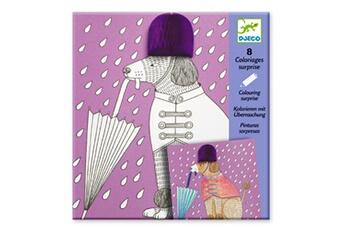 Peinture et dessin Djeco Coloriages Surprises x 4 : Very Chic