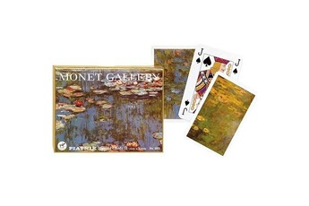 Jeux en famille Piatnik Jeu de cartes : Coffret de 2 x 55 cartes : Monet : Les nénuphars