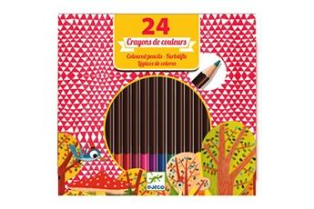 Peinture et dessin Djeco Crayons de couleur : 24 crayons