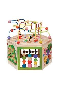 Jouets premier âge EVEREARTH Grand cube d'activités jardin 7 in 1