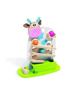 Jouets premier âge Scratch Circuit à balles Vache Marie en bois