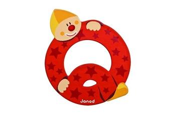 Spirale d'activité JANOD Lettre décorative clown en bois : Q