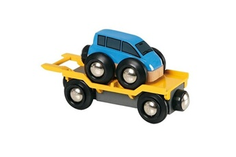 Trains Brio Wagon transport de voiture avec rampe brio