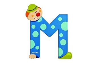 Spirale d'activité JANOD Lettre décorative clown en bois : M