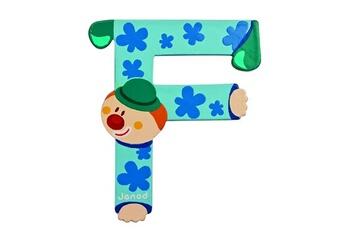 Spirale d'activité JANOD Lettre décorative clown en bois : F