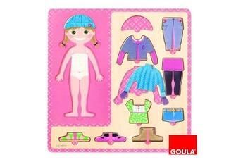 Puzzles Goula Puzzle 10 pièces en bois : petite fille s'habille