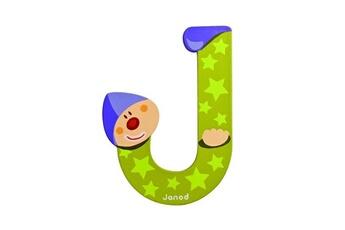 Spirale d'activité JANOD Lettre décorative clown en bois : J