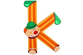 Spirale d'activité JANOD Lettre décorative clown en bois : K