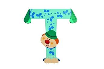 Spirale d'activité JANOD Lettre décorative clown en bois : T