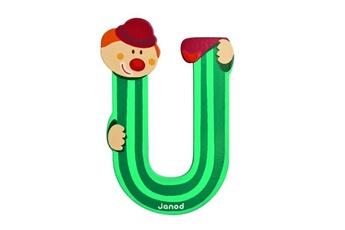 Spirale d'activité JANOD Lettre décorative clown en bois : U
