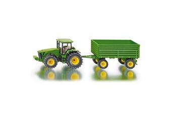 Jeux d'imitation Siku Modèle réduit en métal : Tracteur John Deere et remorque