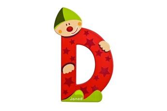 Spirale d'activité JANOD Lettre décorative clown en bois : D