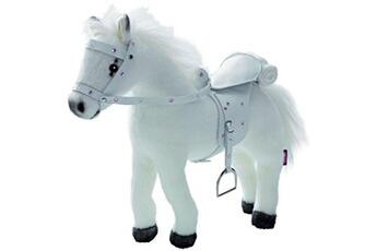 Peluches Gotz Accessoires de poupées : Götz Boutique : Peluche cheval avec bruitages, sel et harnais : Blanc