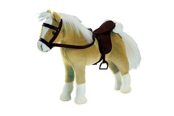 Peluches Gotz Accessoires de poupées : götz boutique : peluche cheval articulé avec sel et harnais : halfinger