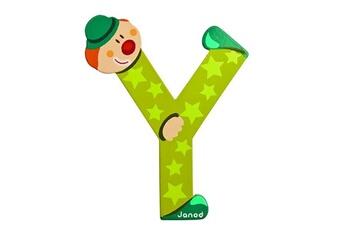 Spirale d'activité JANOD Lettre décorative clown en bois : Y