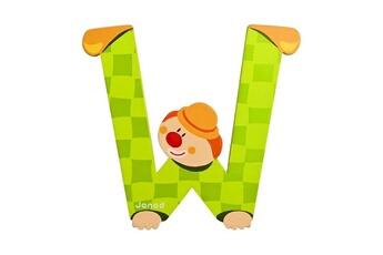 Spirale d'activité JANOD Lettre décorative clown en bois : W