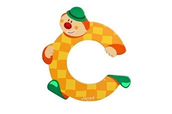 Spirale d'activité JANOD Lettre décorative clown en bois : C