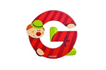 Spirale d'activité JANOD Lettre décorative clown en bois : G