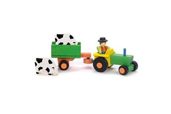 Jouets premier âge JeuJura Tracteur et remorque 4 pièces