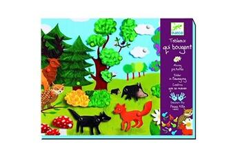 Peinture et dessin Djeco Kit de fabrication d'un tableau qui bouge : Coucou les animaux
