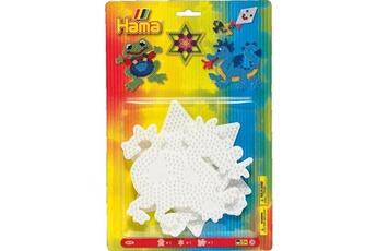 Autres jeux créatifs Hama Plaques pour perles à repasser hama midi : grenouille/etoile/dragon