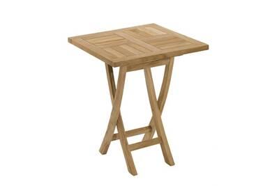 Table de jardin HEAVEN Table carrée pliante, 2 couverts, teck massif ...