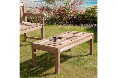 Table de jardin HEAVEN Table basse, 100 x 50 cm, teck massif | Darty