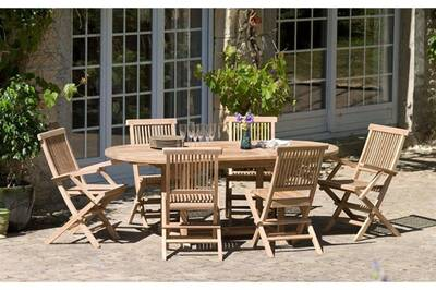 Ensemble table et chaise de jardin HEAVEN Ensemble table ovale + 4 ...