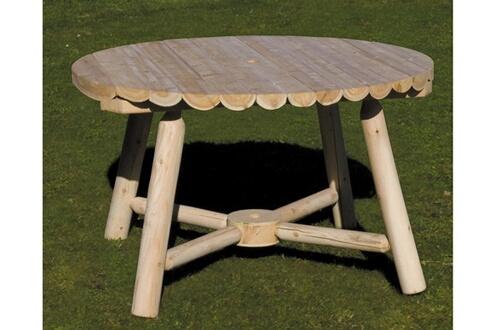 Table ronde Art et Jardin Montreal en bois