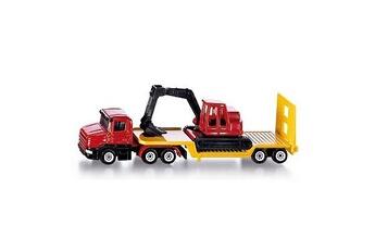 Jeux d'imitation Siku Modèle réduit en métal : Camion surbaissé avec excavatrice