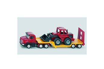 Jeux d'imitation Siku Modèle réduit en métal : Camion surbaissé avec chargeuse frontale