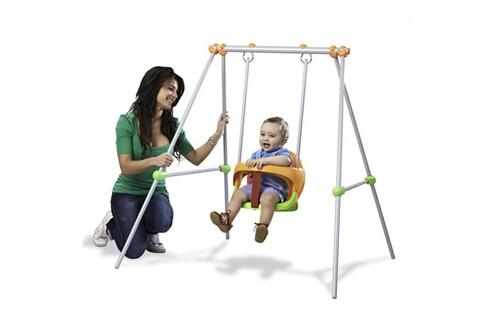 SMOBY Balançoire en métal Baby Swing