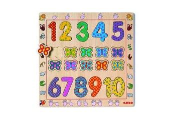 Puzzles Djeco Encastrement 20 pièces en bois - Les chiffres de 1 à 10