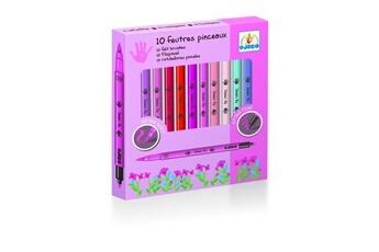 Peinture et dessin Djeco Crayons 10 Feutres pinceaux Rose
