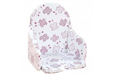 Coussin Chaise Haute LOOPING De Sangle Lapin Cassis