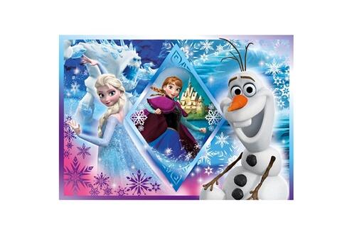 Puzzle 60 pièces : princesses disney : la reine des neiges frozen