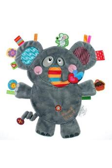 Doudou Label Label for Kids Doudou Etiquettes Friends Elephant Gris
