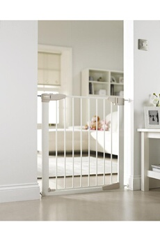 Barrière de sécurité bébé LINDAM Barrière de sécurité Blanche Sure Shut Orto (75 à 82cm)