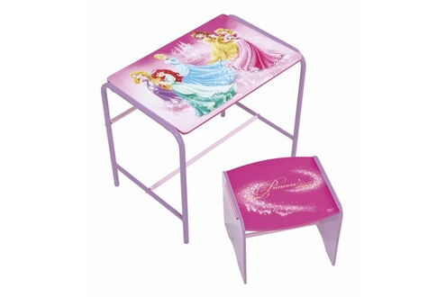 bureau worlds apart bureau m tal et tabouret princesse disney. Black Bedroom Furniture Sets. Home Design Ideas