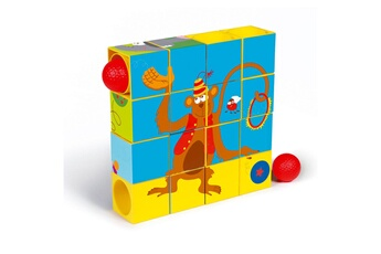 Jouets premier âge Scratch Europe Cubes à empiler : Puzzle & Roller Coaster Cirque