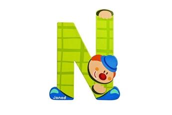 Spirale d'activité JANOD Lettre décorative clown en bois : N