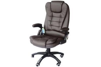 Fauteuil massant homcom fauteuil de bureau direction pivotant