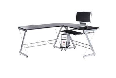 Bureau homcom bureau dinformatique angle pour ordinateur meuble