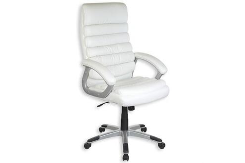 fauteuil bureau idimex fauteuil de bureau blanc avec accoudoirs mk46841517 darty. Black Bedroom Furniture Sets. Home Design Ideas