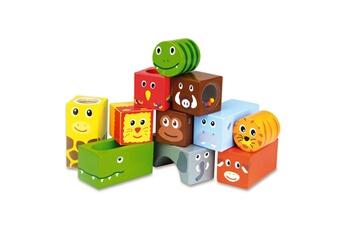 Jouets premier âge VILAC Cubes sonores animaux de la jungle