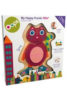 Eveil & doudou bio Oops Puzzle Oops en bois Happy Puzzle Chat