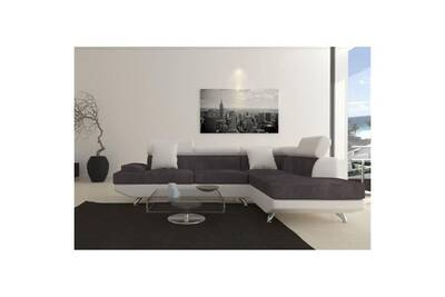 canap dangle switsofa canap dangle droit switsofa scoop microfibrepu gris - Canape D Angle Gris Et Blanc